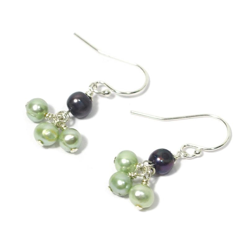 Fresh Water Pearl Earrings With Sterling Silver French Ear Wire