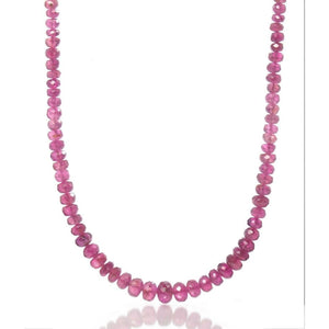 Pink Tourmaline Necklace with Gold Plated Toggle Clasp