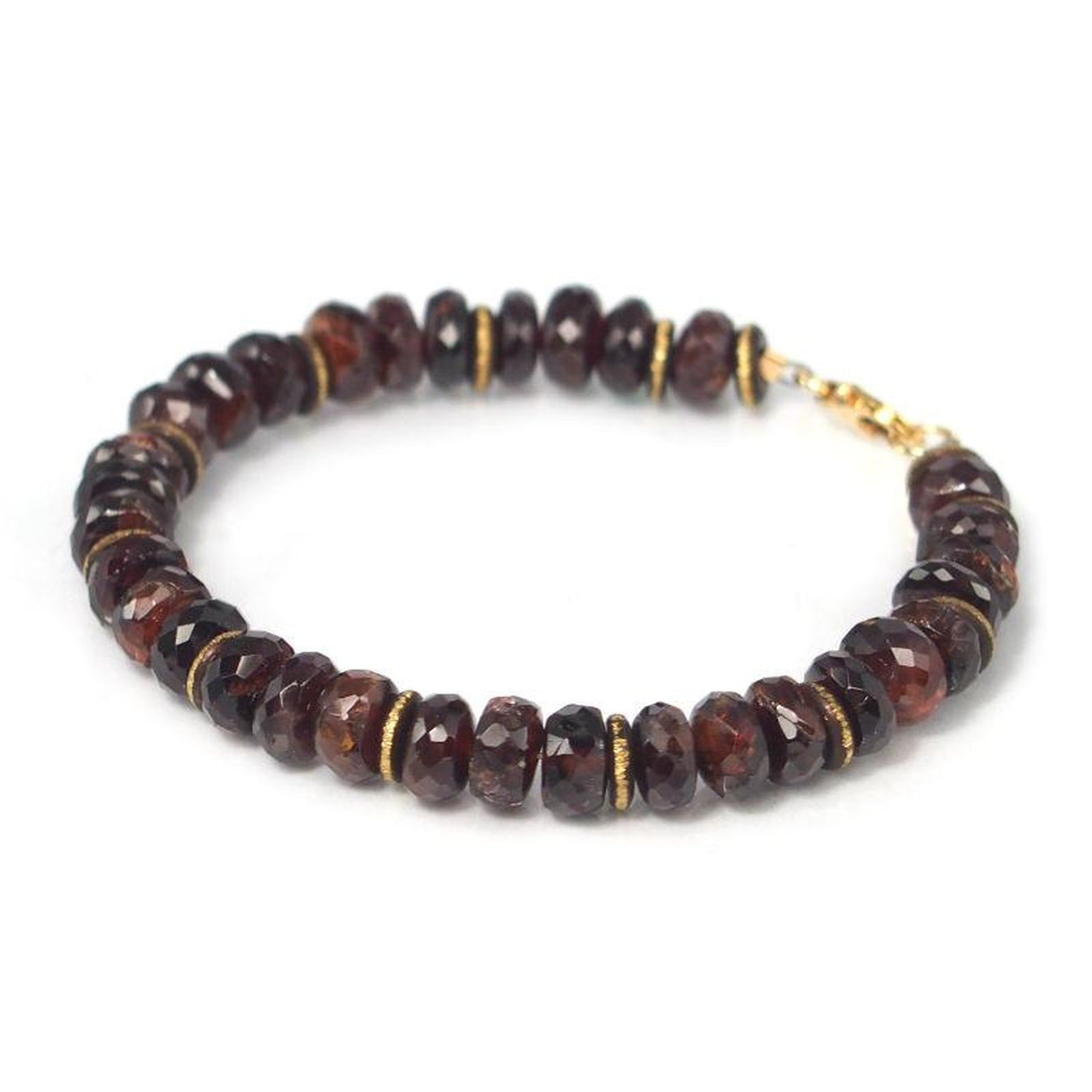 garnet xpress collection jasper gemstones zodiac annie red bead dark stone products gemstone bracelet collections flat