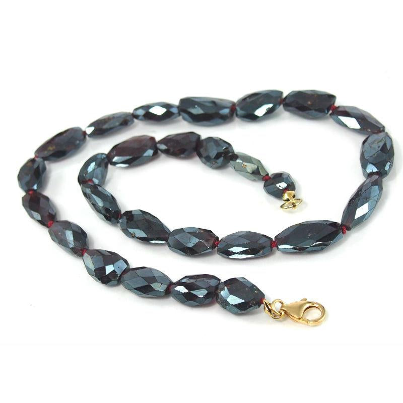 Almandine Garnet Necklace with Gold Filled Trigger Clasp