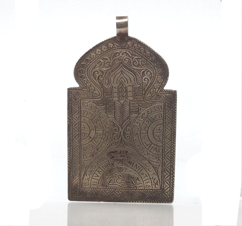 Hand of Fatima Louha Hamsa with Wheat Symbol Amulet-09