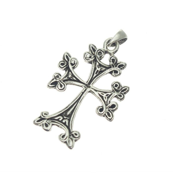 Sterling Silver Fancy Cross Pendant