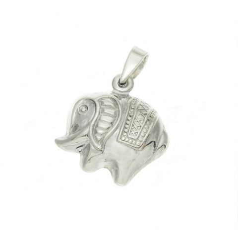 Sterling Silver Elephant Pendant