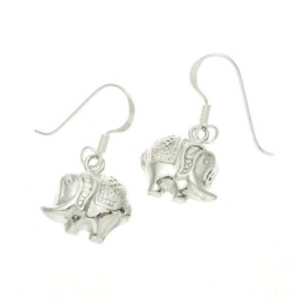 Sterling Silver Small Elephant Earrings
