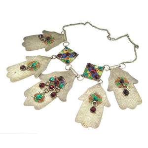 Hamsa Heirloom Grande Necklace From Tiznit, Morocco