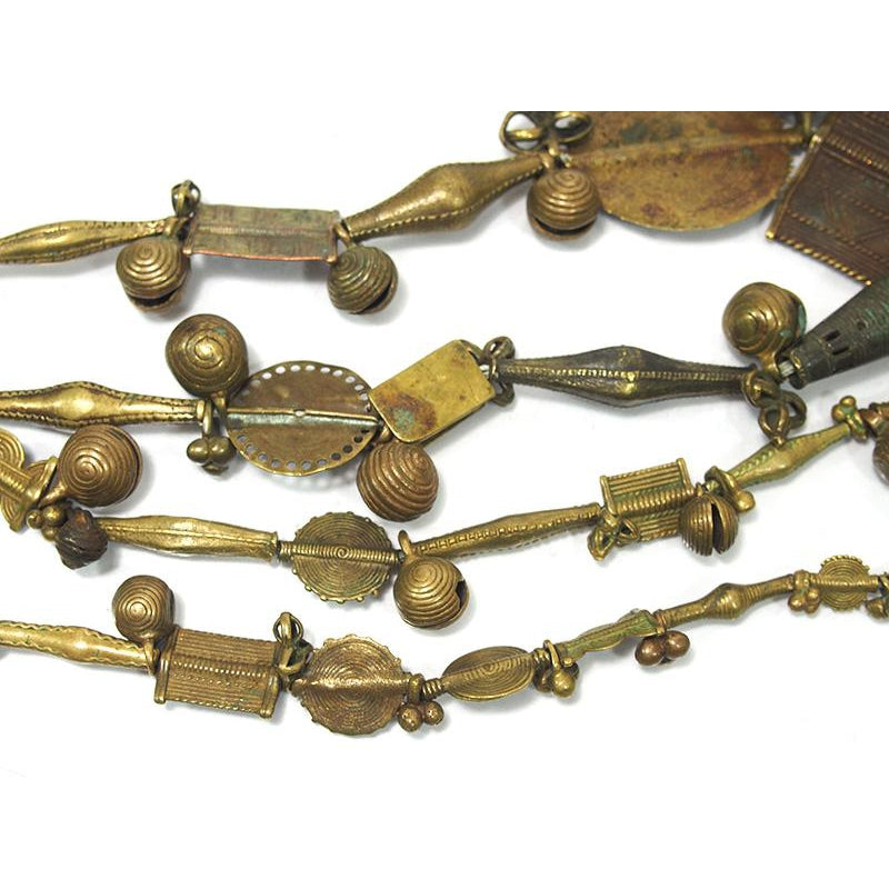Brass Heirloom Necklace From The Baoule people of Côte d'Ivoire ca. 1900 #1