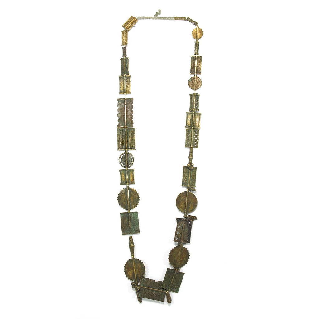 Brass Heirloom Necklace From The Baoule people of Côte d'Ivoire ca. 1900 #2