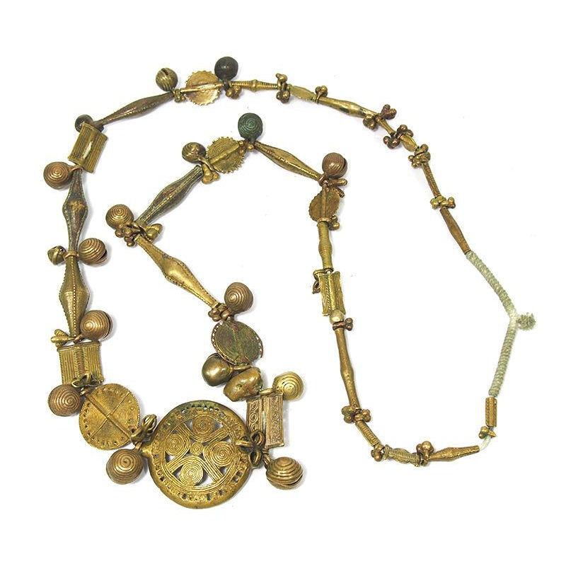 Brass Heirloom Necklace From The Baoule people of Côte d'Ivoire ca. 1900 #3