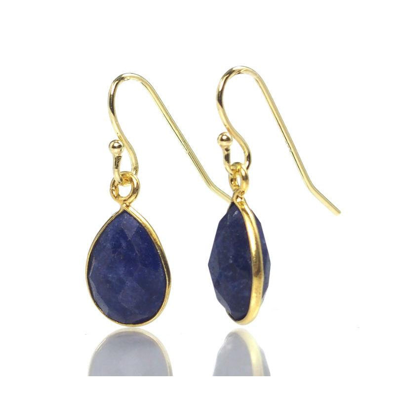 Lapis Lazuli Earrings with Gold Plated Ear Wires