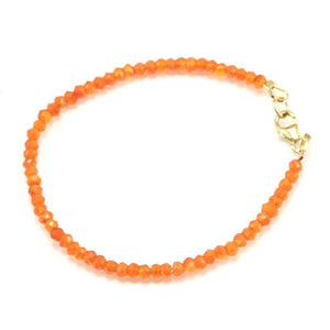Carnelian Faceted Bracelet with Gold Filled Trigger Clasp