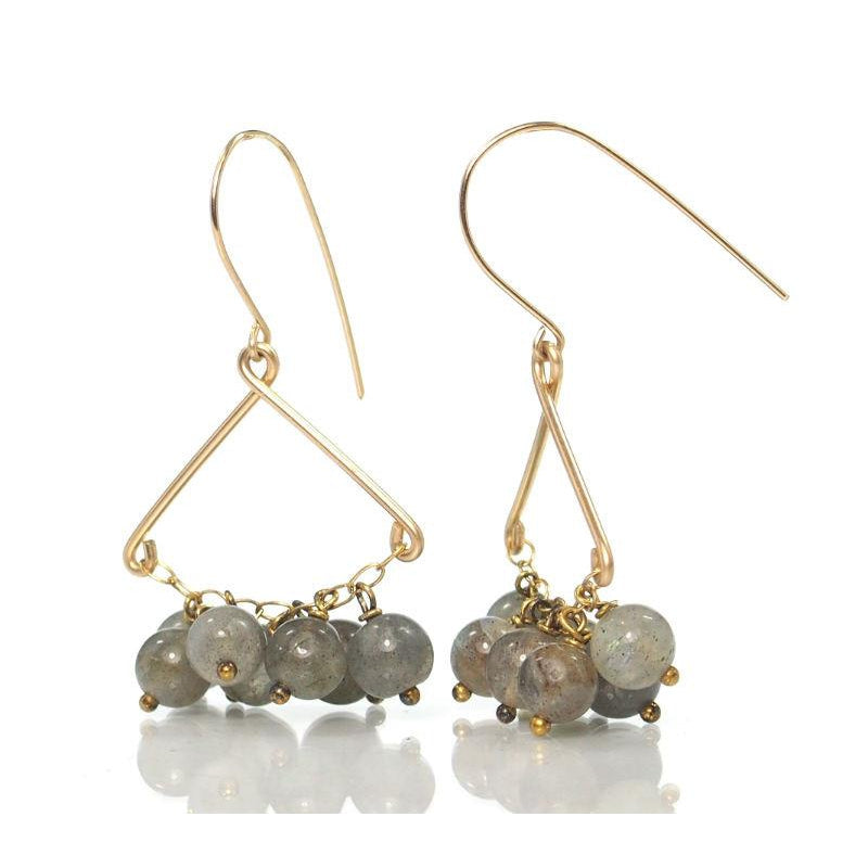 Labradorite Earrings with Gold Filled Ear Wires