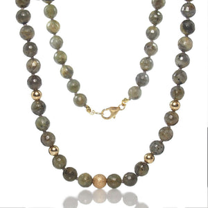 Labradorite Necklace with Gold Filled Trigger Clasp
