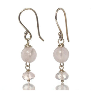 Rose Quartz Earrings with Sterling Silver Ear Wires