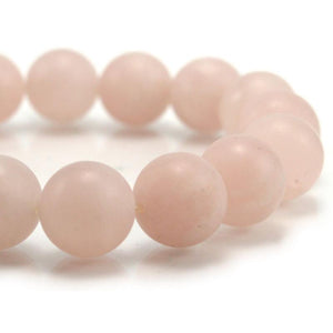 Rose Quartz Matte Stretch Bracelet