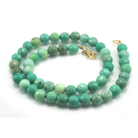 Chrysoprase Necklace with Gold Filled Trigger Clasp