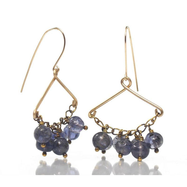 Iolite Earrings with Gold Filled Ear Wires