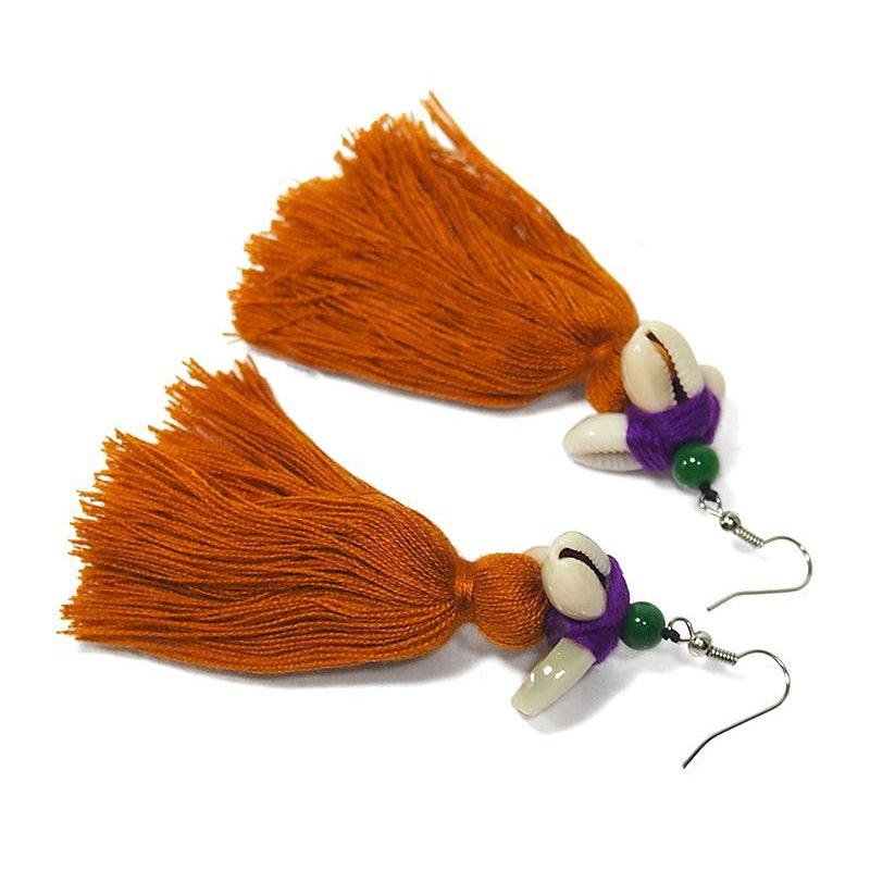 Hilltribe Chrocheted Earrings, AL