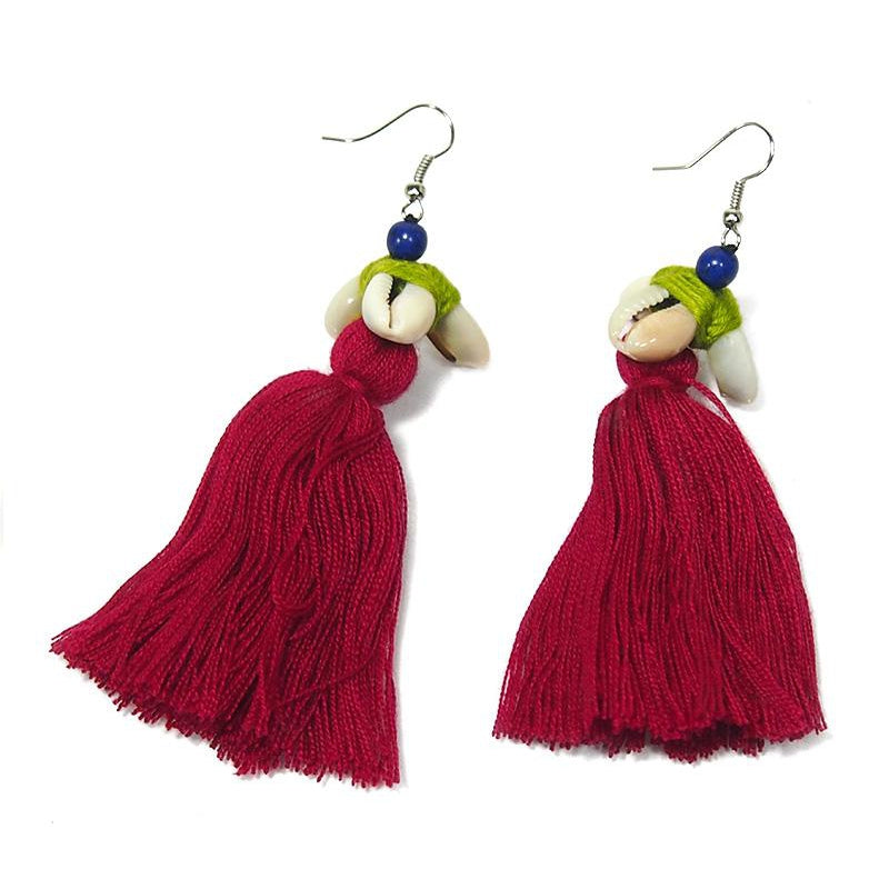 Hilltribe Chrocheted Earrings, AK