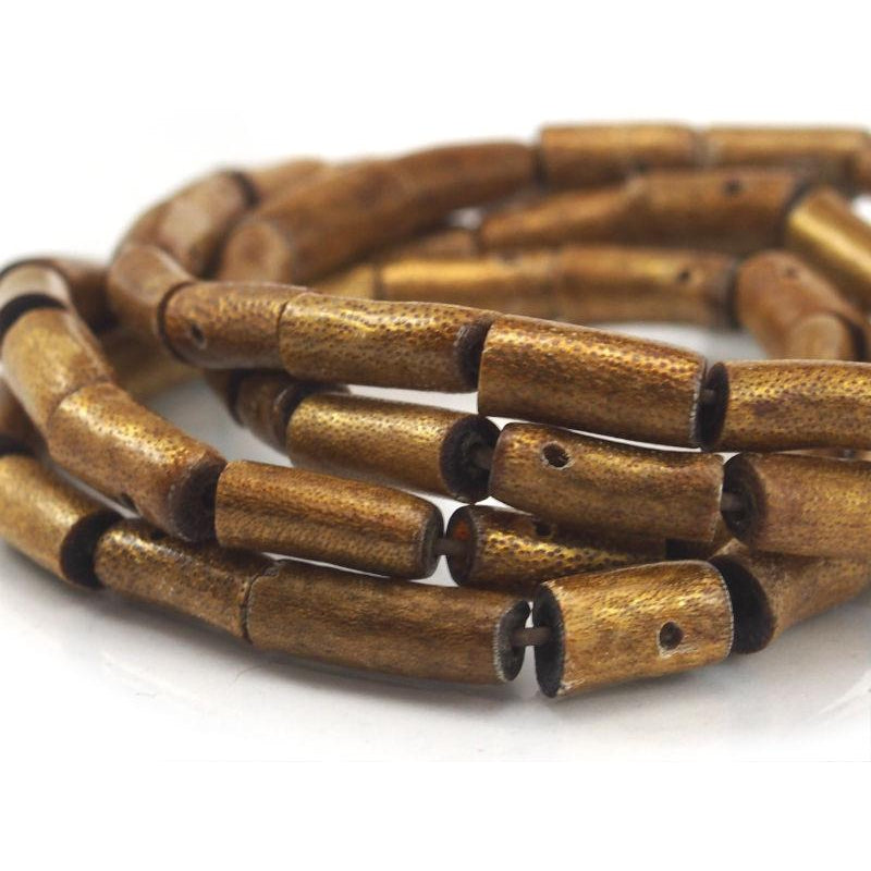 Golden Coral Tube Shaped Strand