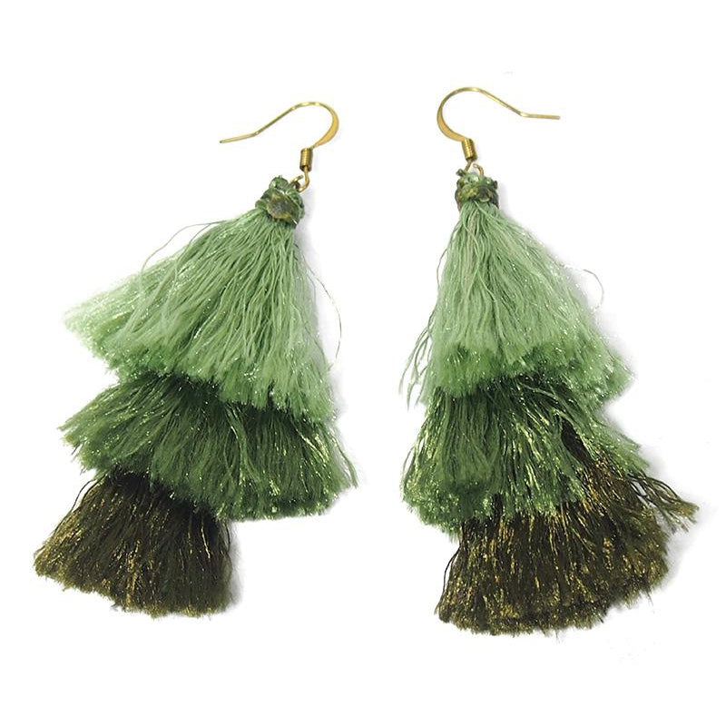 Triple Tassel Earrings, A