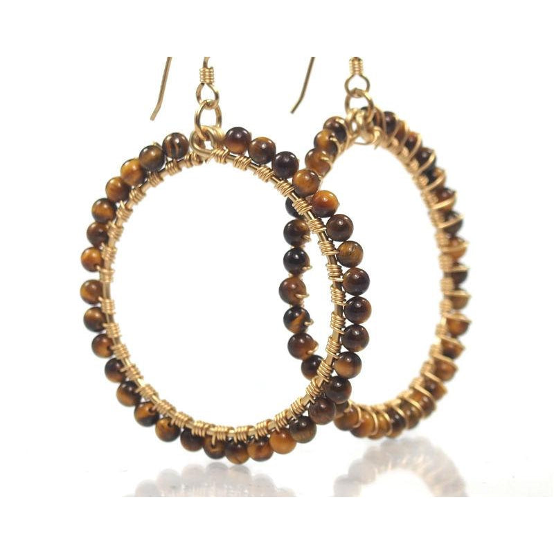 Tiger's Eye Earrings with Gold Filled French Ear Wires