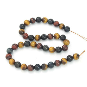 Tiger's Eye Smooth Rounds 10mm Strand (Multi-Colored)