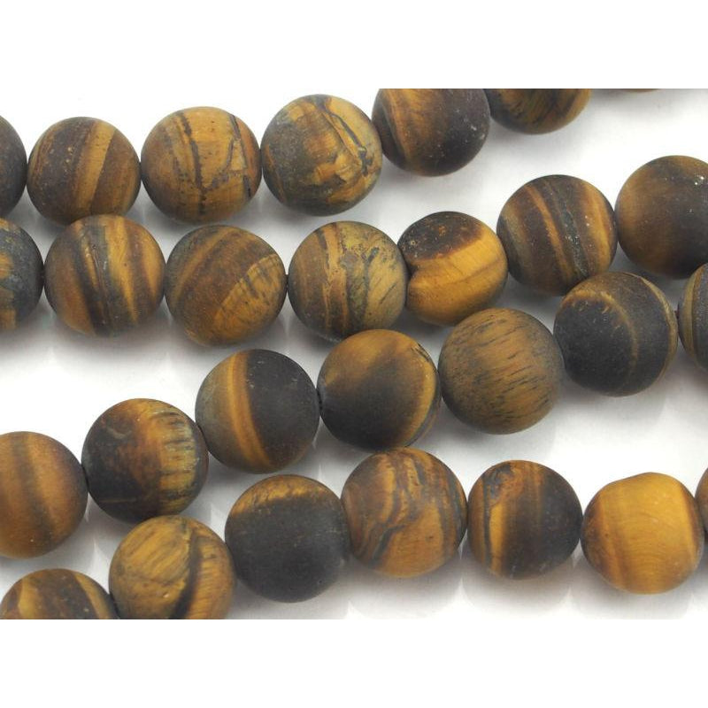 Tiger's Eye Matte Rounds 10mm Strand