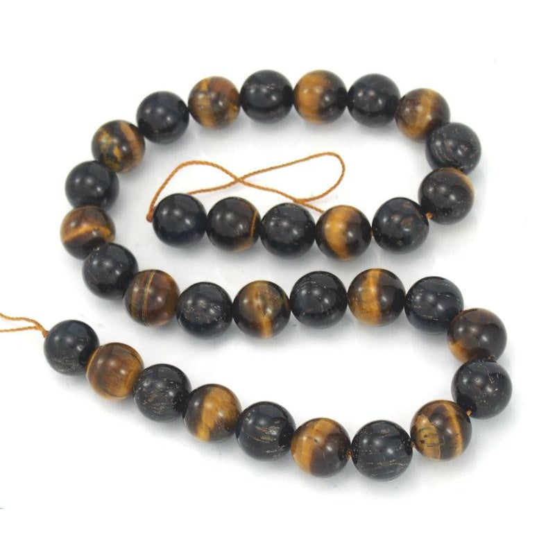 Tiger's Eye Smooth Rounds 12mm Strand