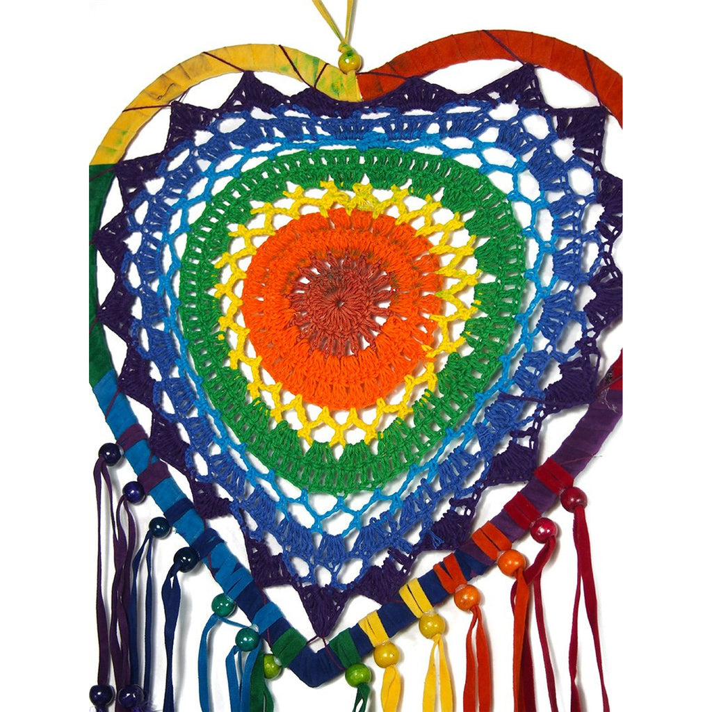 Heart Dreamcatcher Wall Hanging 12.5""