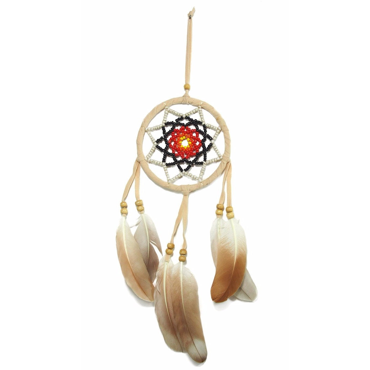 Dreamcatcher Wall Hanging  With Seed Beads (B) Cream