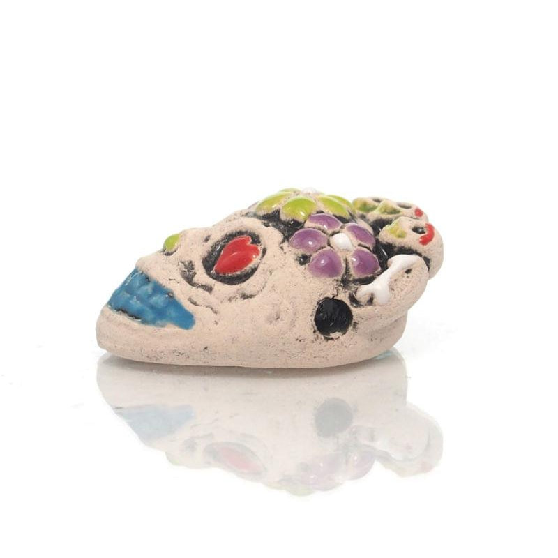 Hand Painted Skull Bead from Peru