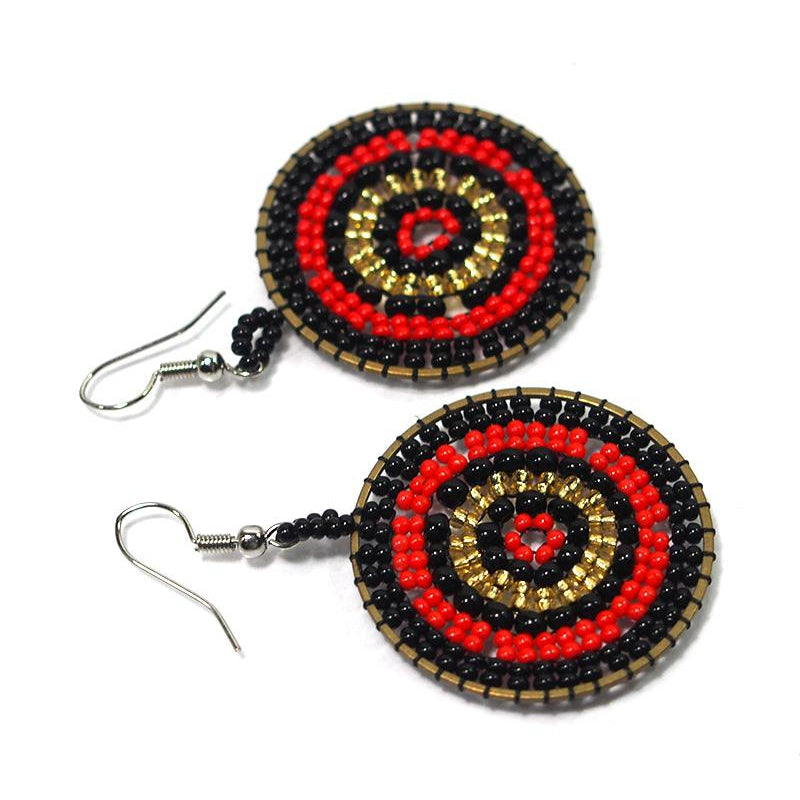 Seed Bead Round Earrings 4