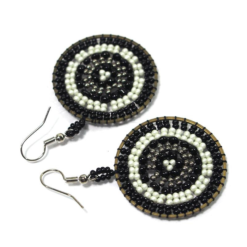 Seed Bead Round Earrings 6