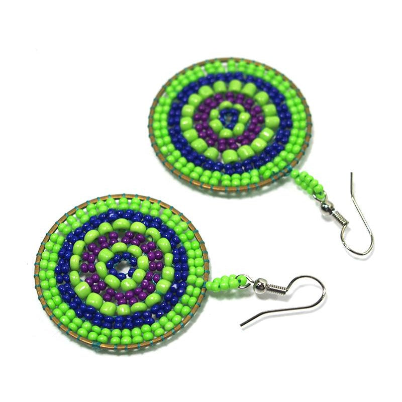 Seed Bead Round Earrings 3