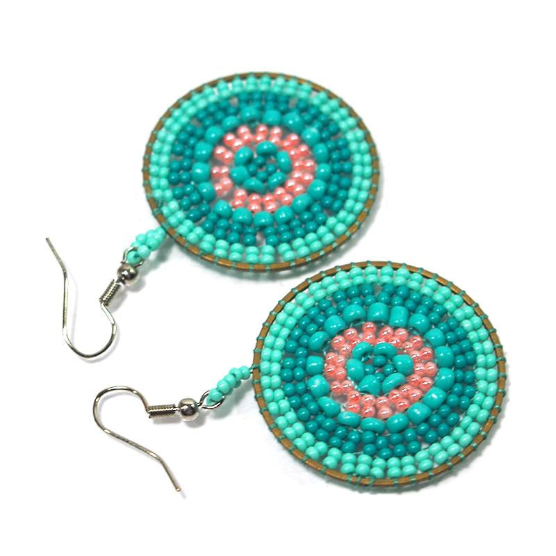 Seed Bead Round Earrings 5