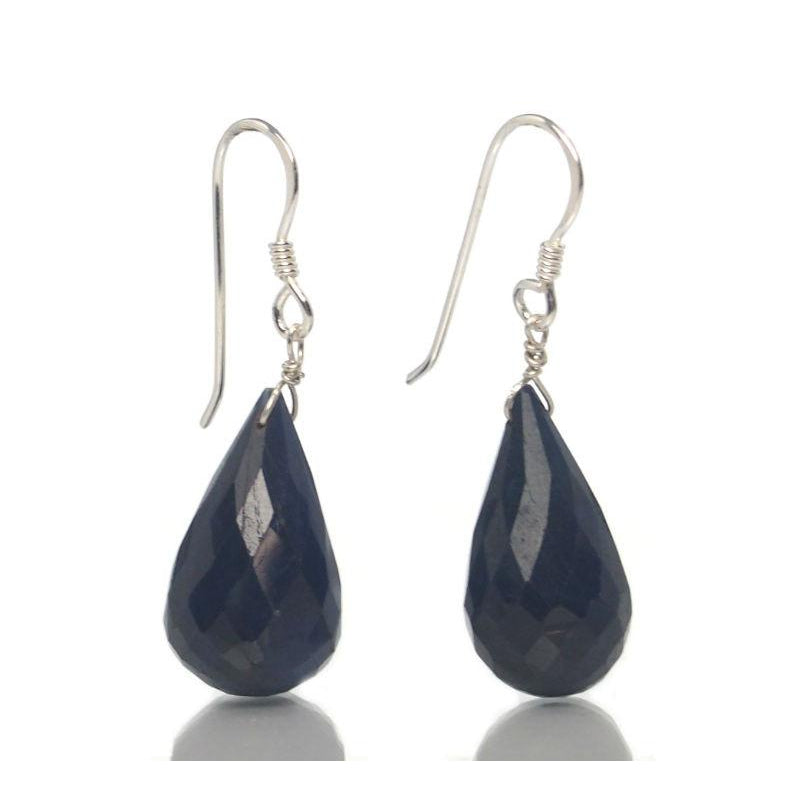 Sapphire Earrings with Sterling Silver French Ear Wires