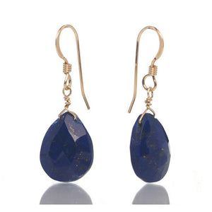 Lapis Lazuli Earrings with Gold Filled French Ear Wires