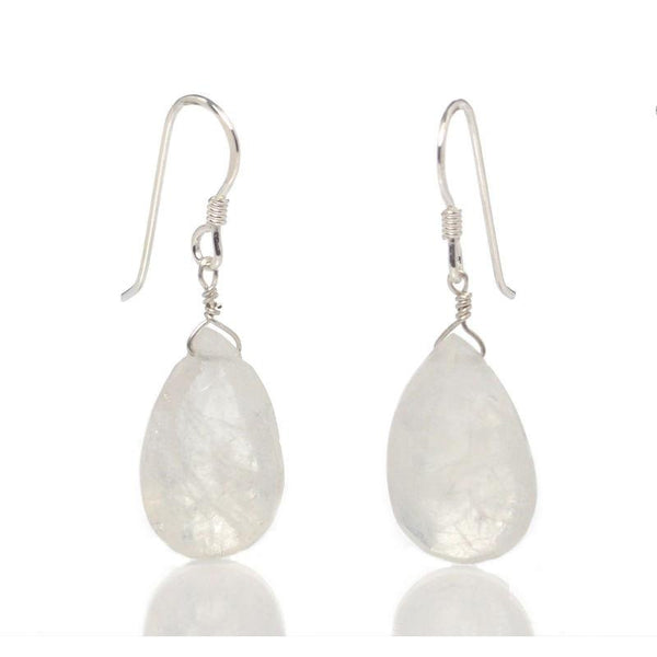 Moonstone Earrings with Sterling Silver French Ear Wires
