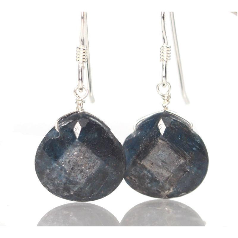 Kyanite Earrings with Sterling Silver French Ear Wires
