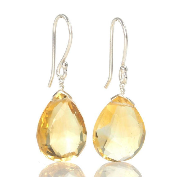 Citrine Earrings with Sterling Silver Ear Wires