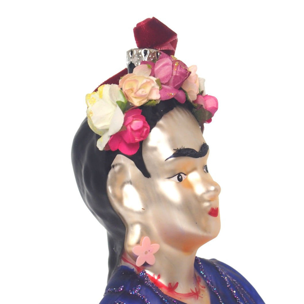 Frida Bust Glass Ornament