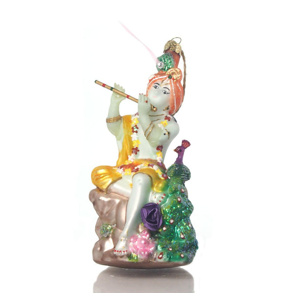 Krishna Glass Ornament