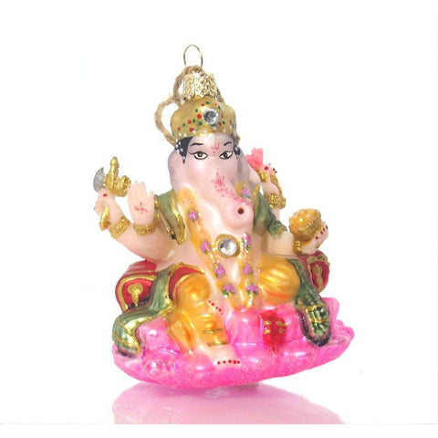 Ganesha Glass Ornament