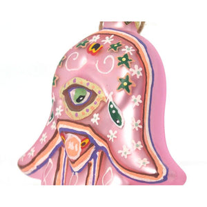 Hamsa Glass Ornament, Pink
