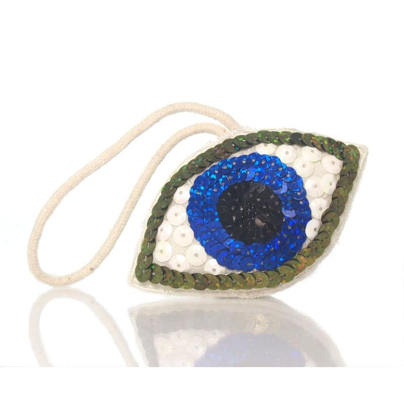 Beaded Sequin Eye Ornament, B