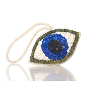 Beaded/Sequenced Eye Ornament, B