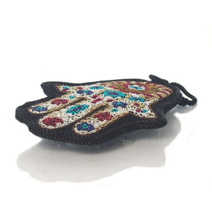 Hamsa Fabric Ornament, Black