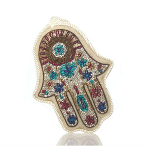 Hamsa Fabric Ornament, White