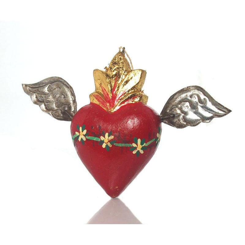 Winged Heart Ornament A