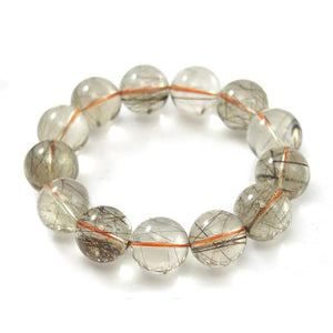 Rutilated Quartz Stretch Bracelet 14mm,16mm, 17mm